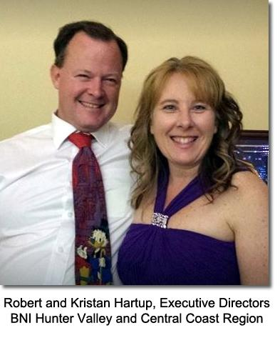 Robert Kristan Hartup Executives Directors BNI Hunter Valley Central Coast